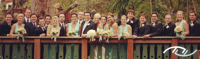 "The Wedding Party from the cover of ""The Best Wedding Reception...Ever!"" (Photo Credit: Jim Kennedy Photographers)"