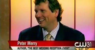 "Peter Merry being interviewed on TV about his book, ""The Best Wedding Reception...Ever!"" Click on this photo to watch his first TV interview on YouTube."