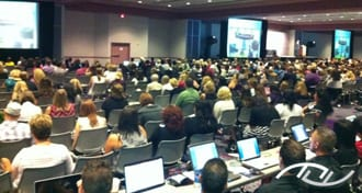 Peter Merry presenting a seminar to over 2,000 wedding professionals at Wedding MBA in September of 2010.